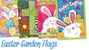 easter garden flags banner