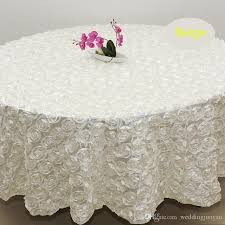 2 4m white color wedding table cloth round overlays 3d rose petal round tablecloths wedding decoration supplier flannel backed vinyl tablecloth table linens