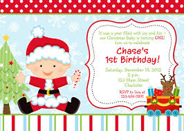 Christmas Birthday Party Invitations First Birthday Christmas Party Invitation Lawsons 1st Birthday