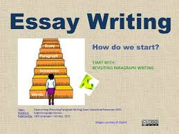 how to write an essay re ing paragraph writing