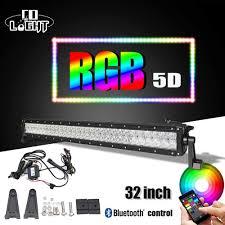 Light Bar 5d 32 22 5d Led Light Bar Rgb Strobe Flash Multicolor Led