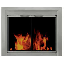pleasant hearth colby medium glass fireplace doors cb 3301 the home depot