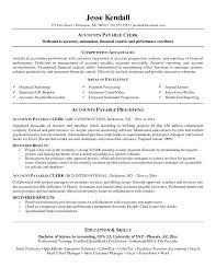 Sample Accounts Payable Clerk Job Description Resume Cover Letter