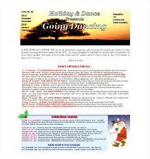 Holiday Newsletter Template Cool Dance Newsletter Template Studio Templates Asctechco