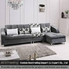 L Shaped Modern Sofa Set | Centerfieldbar Regarding L Shaped Fabric Sofas  (Image 8 of