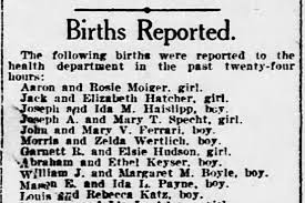 16 Jan 1921 DC a boy born to Mason E and Ida L PAYNE - Newspapers.com