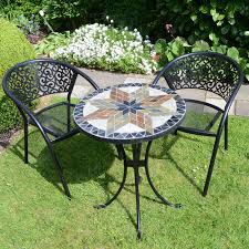 round mosaic patio table outdoor dining