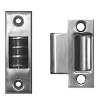 these brushed stainless steel finish roller catch uses a permanent magnet to hold a door closed the magnetic roller catch can be installed in the top