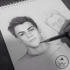 ethan dolan drawing dolan twins graphite drawing follow my ig for farux uljayev