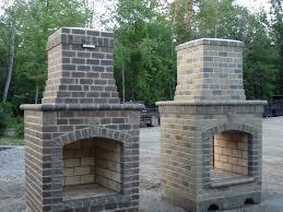 diy outdoor brick fireplace