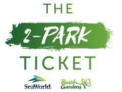 busch gardens tickets. 2-Park SeaWorld And Busch Gardens Ticket Tickets