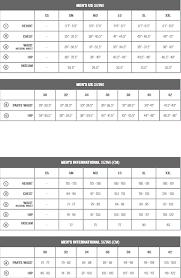 Specialized Clothing Size Chart Deflect Sl Jacket C28