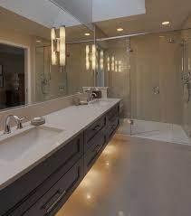 contemporary bathroom lighting ideas. View In Gallery Extensive Bathroom Vanity Design With A Modern Look Contemporary Lighting Ideas A