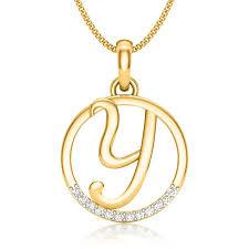 letter y diamond pendant