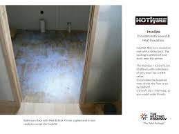 Heated Bathroom Floor New Basic Slide Show Under Tile Spooled Heating Installation Guide