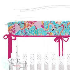 flamingo baby bedding lilly flamingo blue pink orange baby girl crib bedding