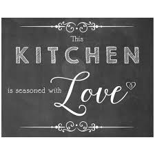 Kitchen Chalkboard Wall This Kitchen Is Seasoned With Love Chalkboard Kitchen Wall Art