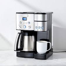 Thermal carafes keep coffee hot for hours so you don't have to microwave cold coffee ever again. Cuisinart Coffee Center 10 Cup Thermal Coffeemaker And Single Serve Brewer Reviews Crate And Barrel