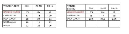 Size Chart Pennant Sportswear