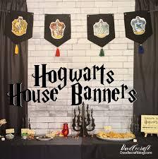 hogwarts house banner diy harry potter