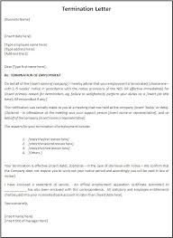 Letter Of Dismissal Template Employee Termination Letter Crna Cover Letter 23