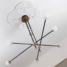 Mpressive Mid Century Design Ceiling Light In Brass Casa Lumi