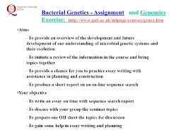 bacterial genetics assignment and genomics exercise aims to  1 bacterial