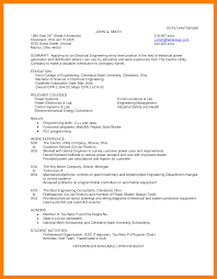 Electrical Engineering Sample Resumes 5 Entry Level Electrical Engineer Resume Business