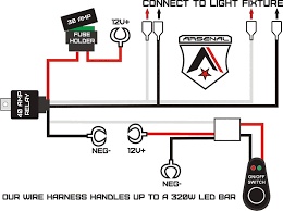 How Many Amps Do Led Light Bars Use 1 Arsenal Offroad Led Light Bar Universal Wiring Harness