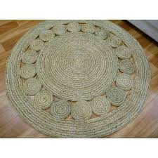 enviro plaited braided jute round circle 501 circles natural green