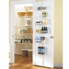 Added pantry storage in the kitchen. The Container Store > White elfa Door  & Wall Rack Solution