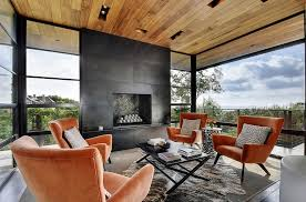 modern sunroom designs. Fine Designs View In Gallery Black Fireplace And Wooden Roof For The Spacious Sunroom  From Twist Tours Photography Intended Modern Sunroom Designs Decoist
