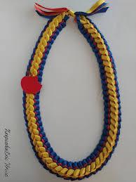Ribbon Lei Designs Snow White Princess Inspired Double Braided Ribbon Leis