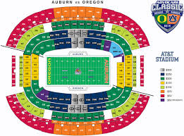 Auburn Seating Chart With Rows Seating Map Advocare Classic
