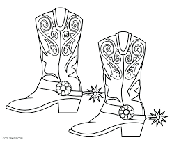 Cowgirl Coloring Pages Printable Coloring