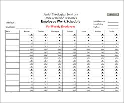 Work Schedule Charts Sample Employee Schedule 13 Documents In Pdf Word