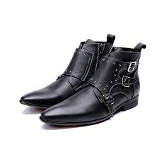 italian style tooling fashion big shoes buckle strap men s punk rocking chair shoes handmade men s denim motorcycle