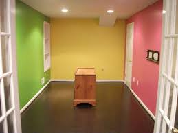 It's a kids playroom in eggshell finish with deep base colors on every wall  !