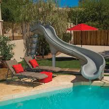 backyard pool with slides. Fine Pool Etonnant Backyard Pool With Slides Adrenaline Slide For In Ground Swimming  Pools Poolcenter On E