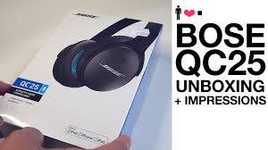 bose headphones sport box. bose quietcomfort qc25 unboxing (full review link in description) - youtube headphones sport box