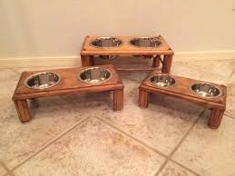 dog bowl raised double feeders pet feeder diy pallet wooden small front right raised dog feeder
