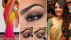 party style saree d with party style makeup and party hairstyles step by step party makeup you