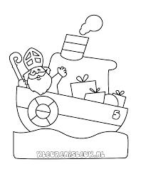 Pakjesboot 12 Kleurplaat Sinterklaas Drawing Steamboat Indiaan 700