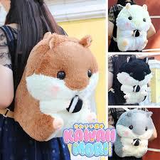 4 <b>Colors</b> Kawaii Hamster <b>Plush Backpack</b> KW164963 in 2019 ...