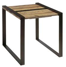 reclaimed wood and metal end table in brown id 3803277