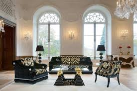 Living Room:Amazing Victorian Style Living Room Design With Black Floral  Leather Sofa And Drum