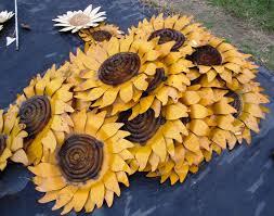 rustic tin sunflower wall art 4 sizes