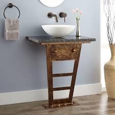 zhi wallmount console vanity for vessel sink  bathroom