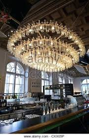 glass bottle chandelier clear glass bottle chandelier in the bar and restaurant of the applied arts glass bottle chandelier
