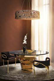 contemporary decor ideas match with round glass dining tables intuition circular dining table by